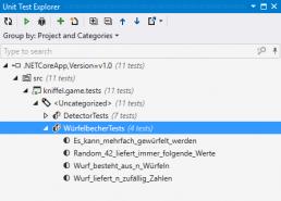 Unit Tests NUnit NET Core