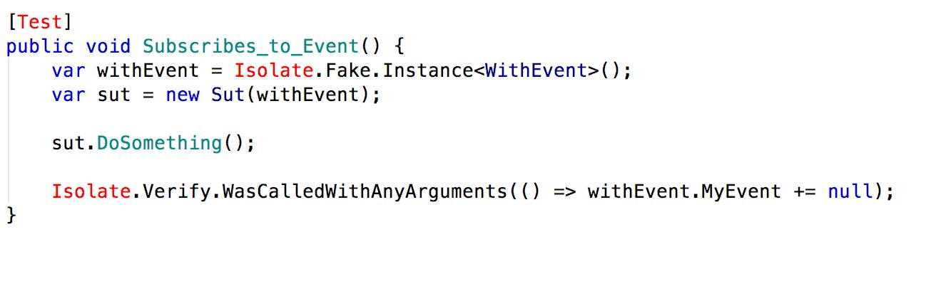 Automatisiertes Testen von Events