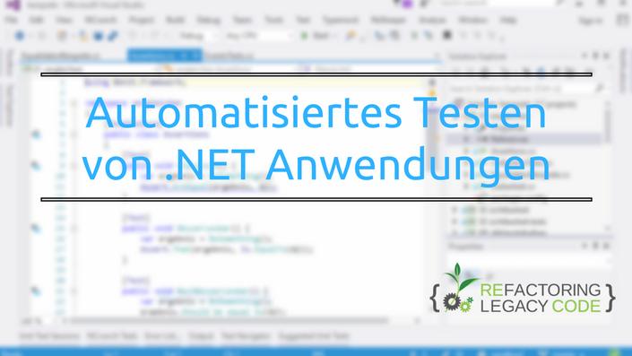 Onlinekurs Unit Tests: Automatisiertes Testen von .NET Anwendungen